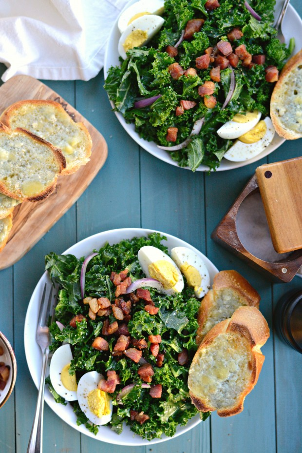 Simply Scratch Winter Kale Pancetta Salad with Bleu Cheese ...