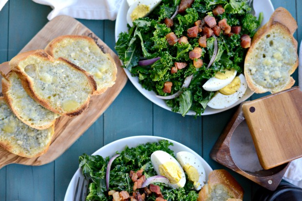 Winter Kale + Crispy Pancetta Salad with Bleu Cheese Toasts (26)