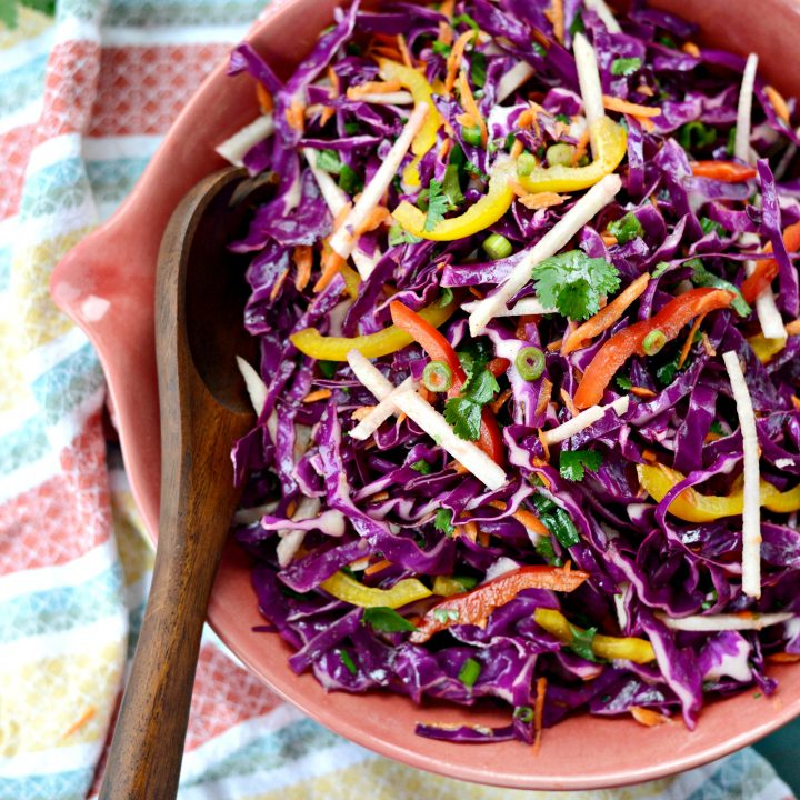 Mexican Slaw + Cumin Lime Dressing