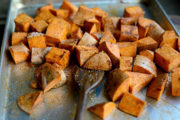Smoky Sweet Roasted Sweet Potatoes l SimplyScratch.com (9)