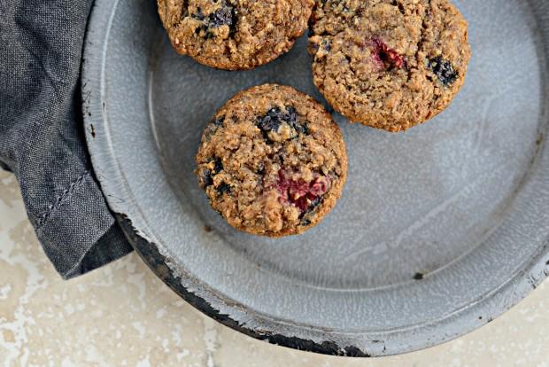 Triple-Berry Bran Muffins l SimplyScratch.com (17)