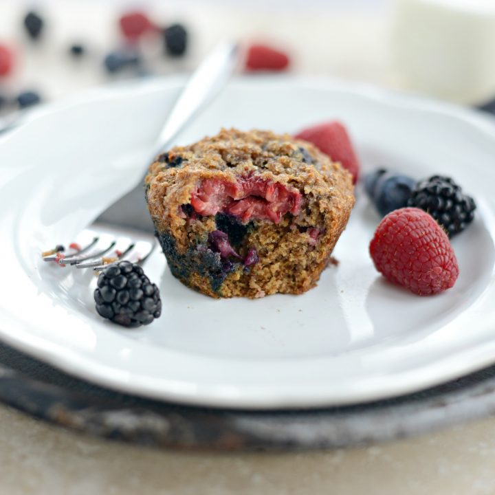 Triple-Berry Bran Muffins
