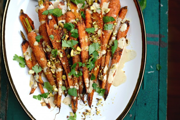 Turmeric Roasted Carrots + Lemon Tahini Dressing l SimplyScratch.com (24)
