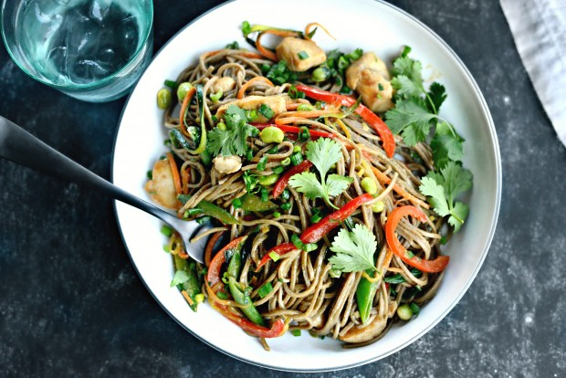 Chicken + Spring Vegetable Soba Noodle Stir-Fry l SimplyScratch.com (012)
