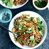 Chicken and Spring Vegetable Soba Noodle Stir-fry