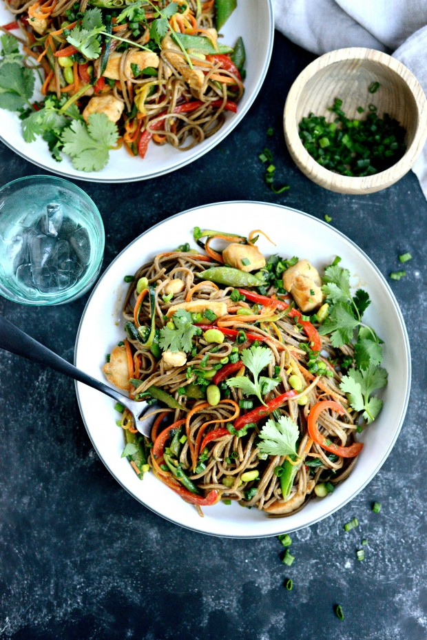 Chicken + Spring Vegetable Soba Noodle Stir-Fry l SimplyScratch.com (015)