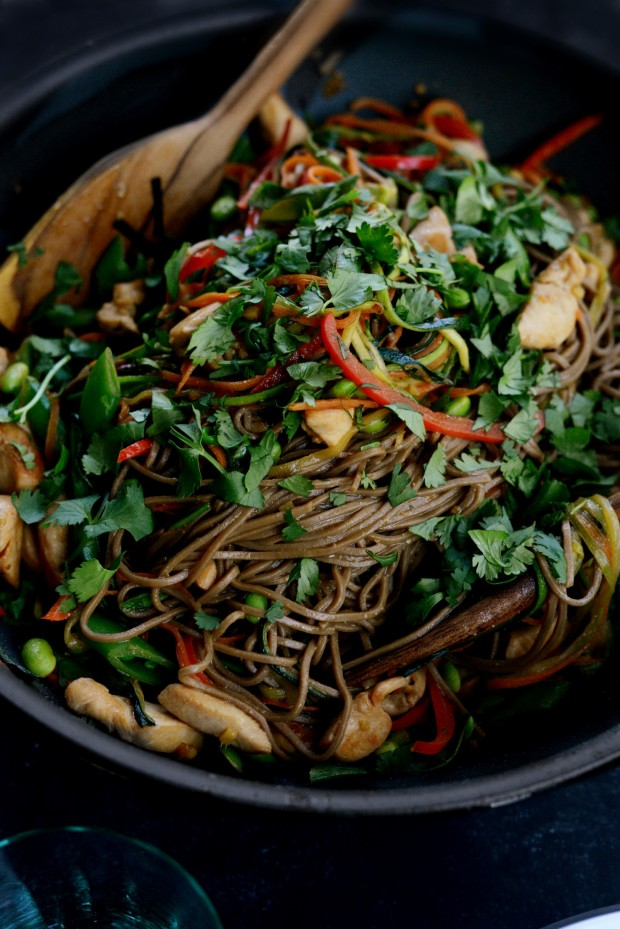 Simply Scratch Chicken and Spring Vegetable Soba Noodle ...
