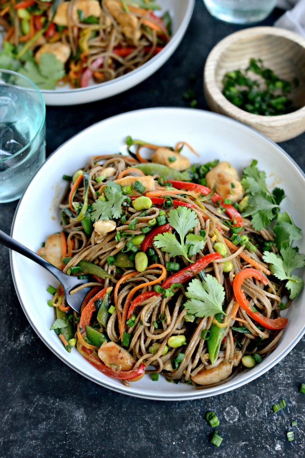 Chicken + Spring Vegetable Soba Noodle Stir-Fry l SimplyScratch.com (16)