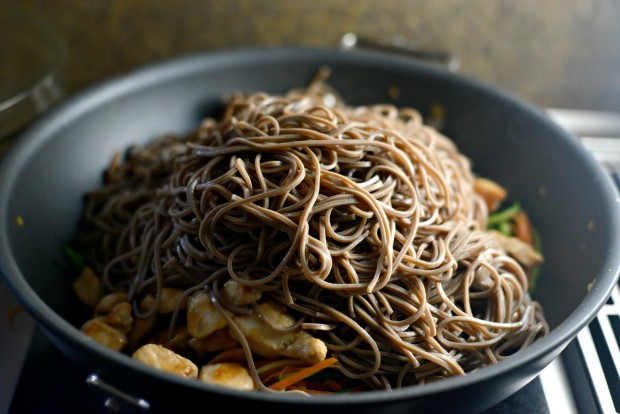 Chicken + Spring Vegetable Soba Noodle Stir-Fry l SimplyScratch.com (8)
