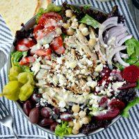 The Best Greek Salad + Creamy Greek Salad Dressing