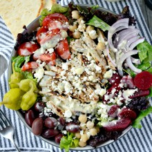Grilled Chicken Greek Salad + Creamy Greek Dressing l SimplyScratch.com  (22)