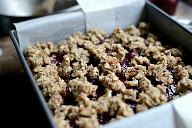 Cherry Jam + Almond Crumble Breakfast Bars l SimplyScratch.com (16)