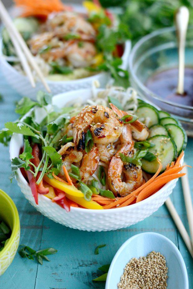 Grilled Shrimp Spring Roll Noodle Bowls l SimplyScratch.com (11)