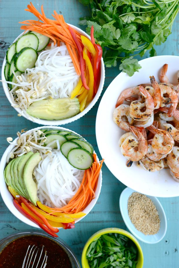 Grilled Shrimp Spring Roll Noodle Bowls l SimplyScratch.com (4)