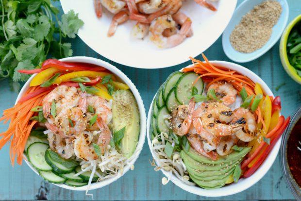 Grilled Shrimp Spring Roll Noodle Bowls l SimplyScratch.com (6)