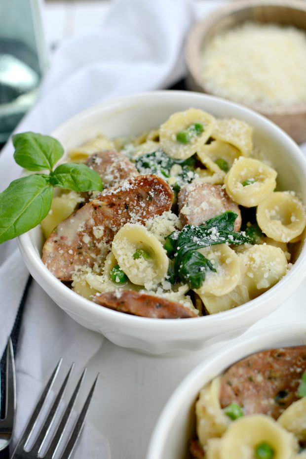 Simply Scratch One-Pan Creamy Orecchiette PastaSimply Scratch
