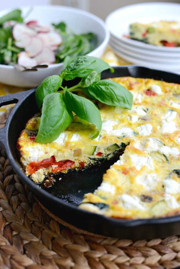 Vegetable + Goat Cheese Frittata l SimplyScratch.com (11)
