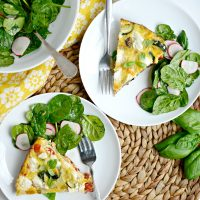 Vegetable + Goat Cheese Frittata
