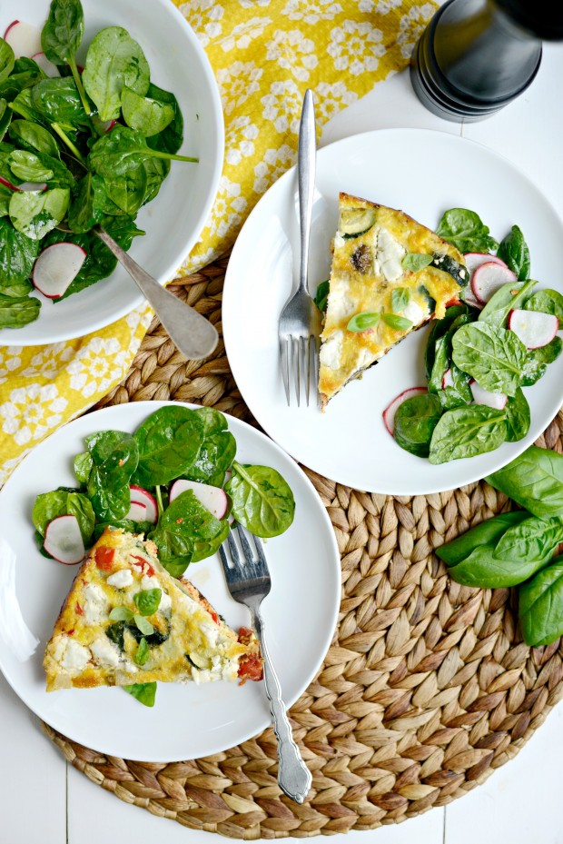 Vegetable + Goat Cheese Frittata l SimplyScratch.com (12)