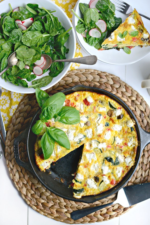 Vegetable + Goat Cheese Frittata l SimplyScratch.com (15)