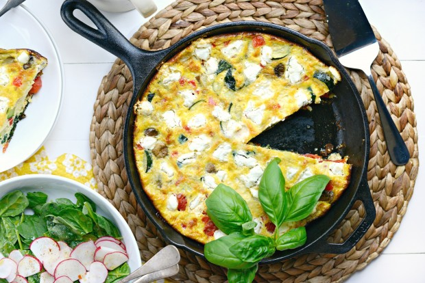 Vegetable + Goat Cheese Frittata l SimplyScratch.com (16)
