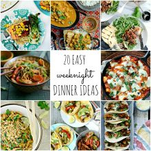 20 Easy Weeknight Dinner Ideas l SimplyScratch.com