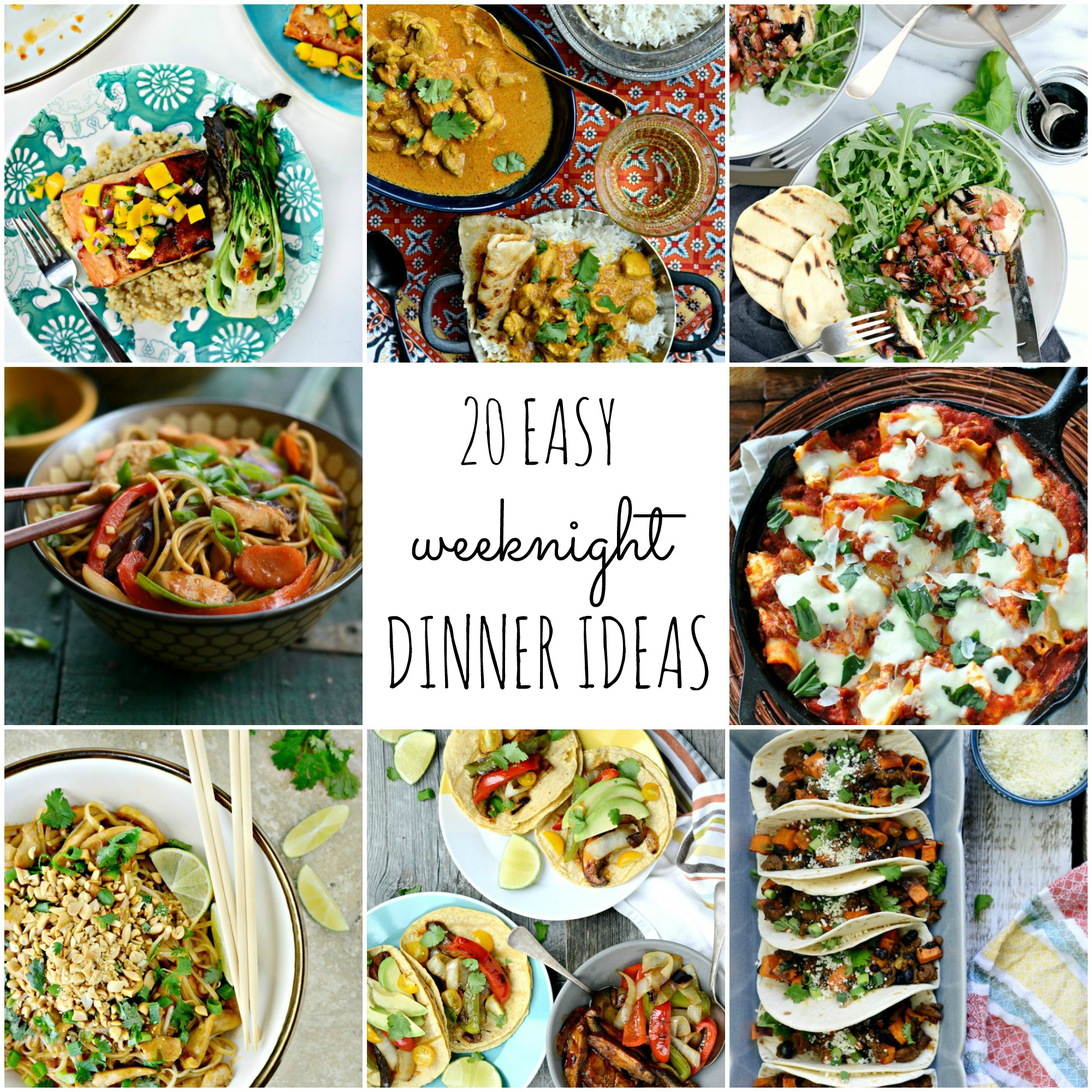 Simply Scratch 20 Easy Weeknight Dinner Ideas