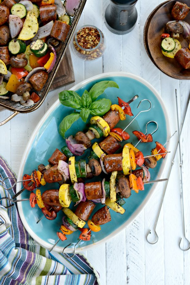 30-minute Chicken Sausage + Italian Vegetable Kebabs l SimplyScratch.com (13)