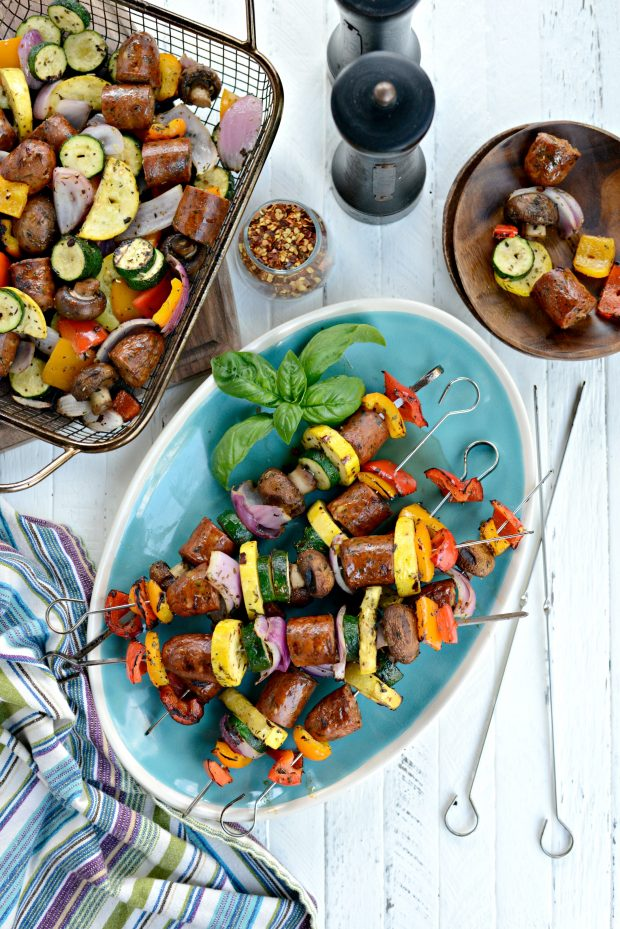 30-minute Chicken Sausage + Italian Vegetable Kebabs l SimplyScratch.com (16)