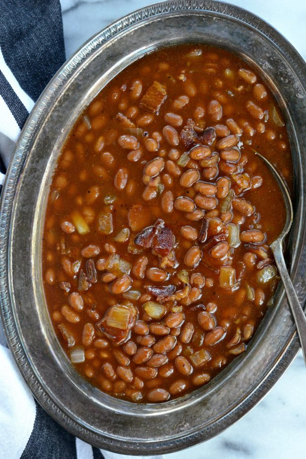 5-Ingredient Barbecue Bacon Baked Beans l SimplyScratch.com (16)