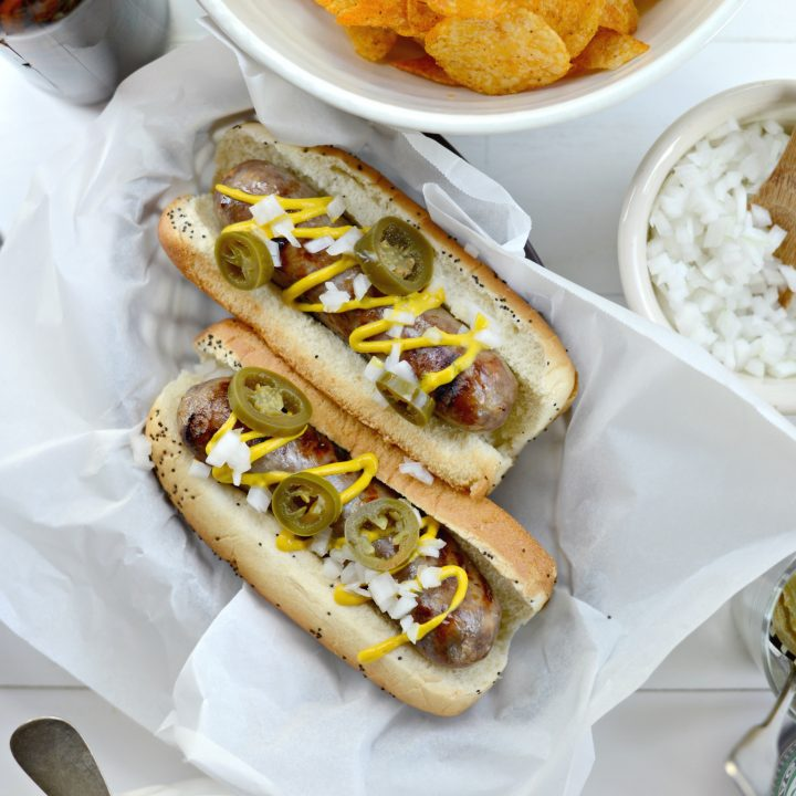 Oven Braised Beer Brats