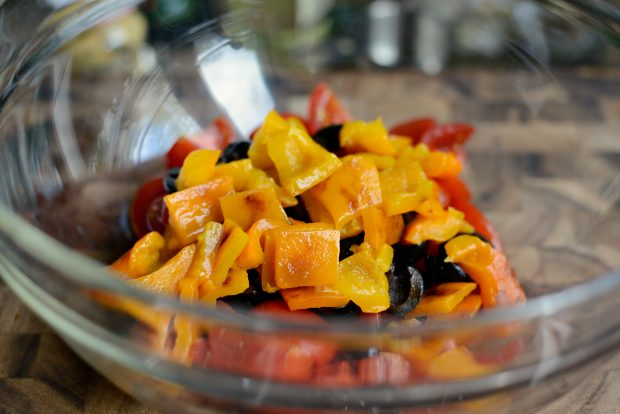 Grilled Radicchio, Bell Pepper + Olive Panzanella l SimplyScratch.com (17)