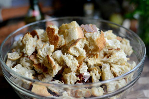 Grilled Radicchio, Bell Pepper + Olive Panzanella l SimplyScratch.com (19)