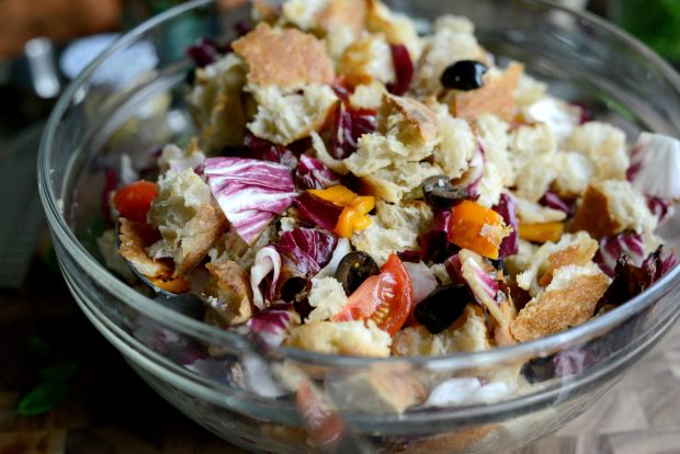 Grilled Radicchio, Bell Pepper + Olive Panzanella l SimplyScratch.com (21)