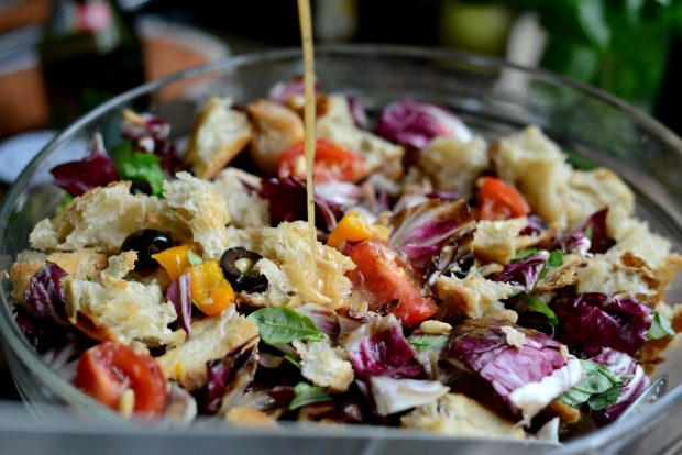 Grilled Radicchio, Bell Pepper + Olive Panzanella l SimplyScratch.com (24)