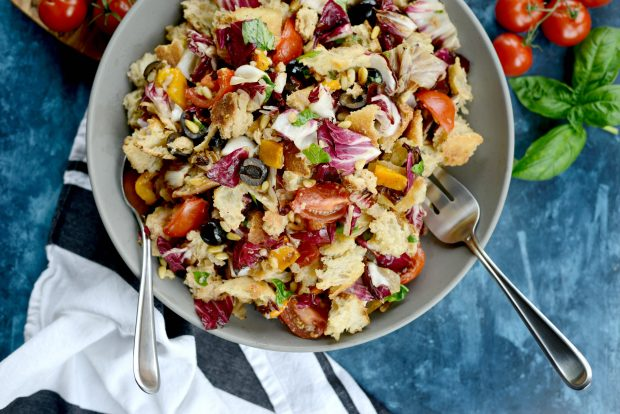 Grilled Radicchio, Bell Pepper + Olive Panzanella l SimplyScratch.com (26)