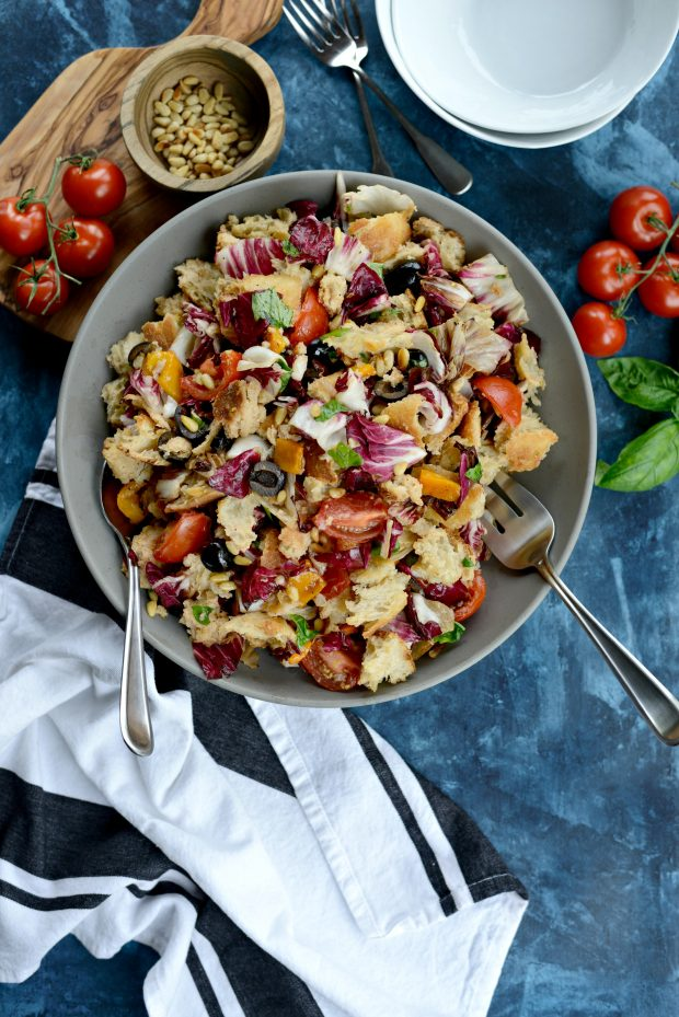 Grilled Radicchio, Bell Pepper + Olive Panzanella l SimplyScratch.com (27)