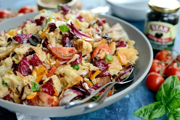Grilled Radicchio, Bell Pepper + Olive Panzanella l SimplyScratch.com (31)