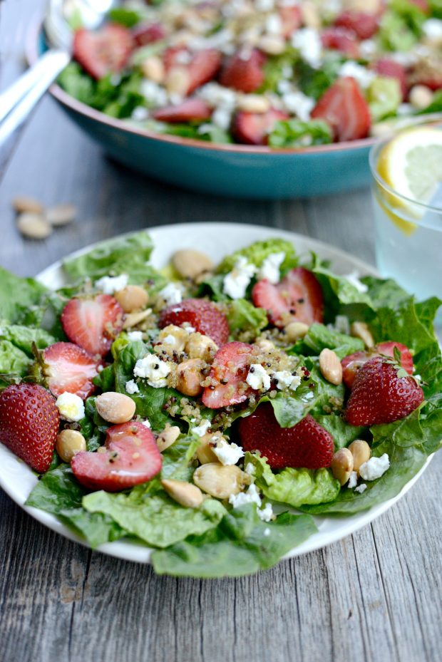 Strawberry + Goat Cheese Salad with Crispy Fried Quinoa l SimplyScratch.com (25)