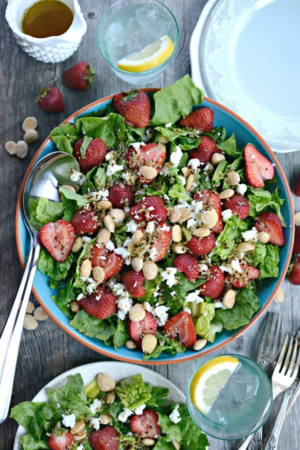 Strawberry + Goat Cheese Salad with Crispy Fried Quinoa l SimplyScratch.com (27)