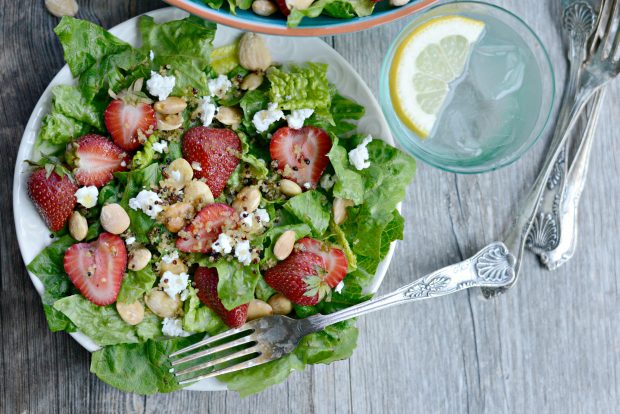 Strawberry + Goat Cheese Salad with Crispy Fried Quinoa l SimplyScratch.com (28)