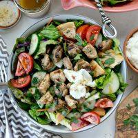 Chicken Tawook Salad with Lemon Sumac Dressing