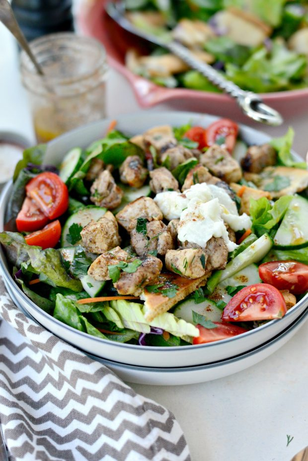 Chicken Tawook Salad with Lemon Sumac Dressing l SimplyScratch.com (17)