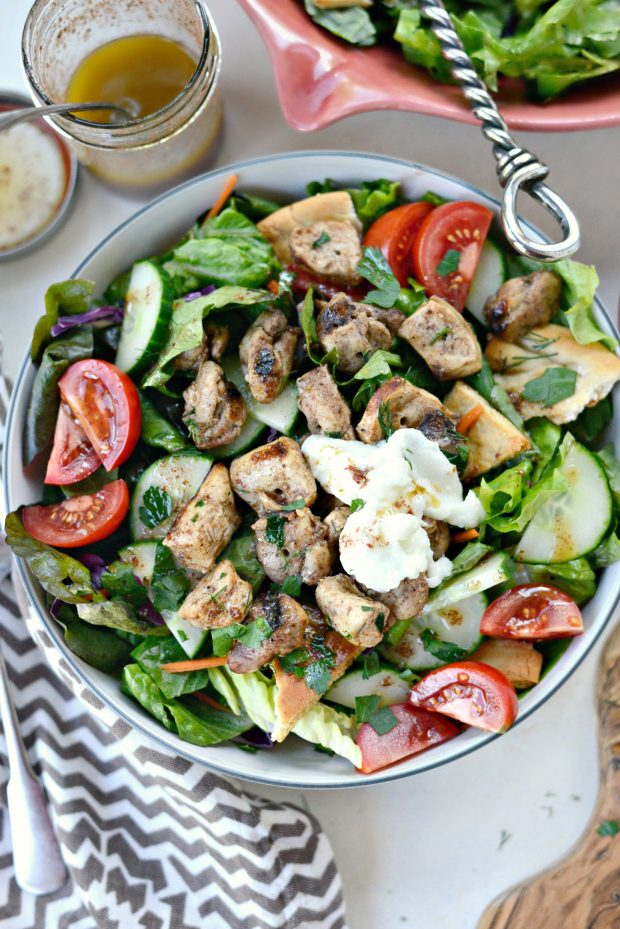 Chicken Tawook Salad with Lemon Sumac Dressing l SimplyScratch.com (18)