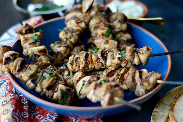 Shish Tawook (Lebanese Marinated Chicken Kebabs) l SimplyScratch.com