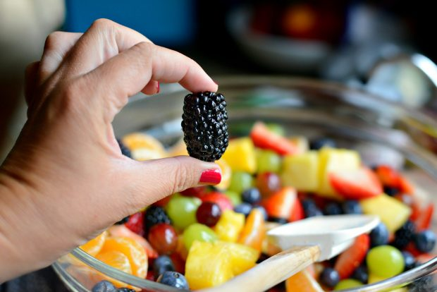 Rainbow Fruit Salad + Citrus Honey Syrup l SimplyScratch.com (25)