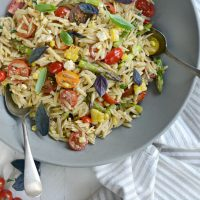 Asparagus, Tomato & Grilled Corn Orzo Pasta Salad