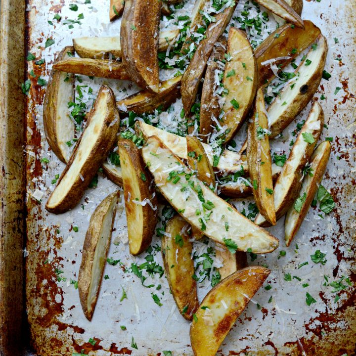 Garlic, Parmesan + Fresh Herb Oven Fries
