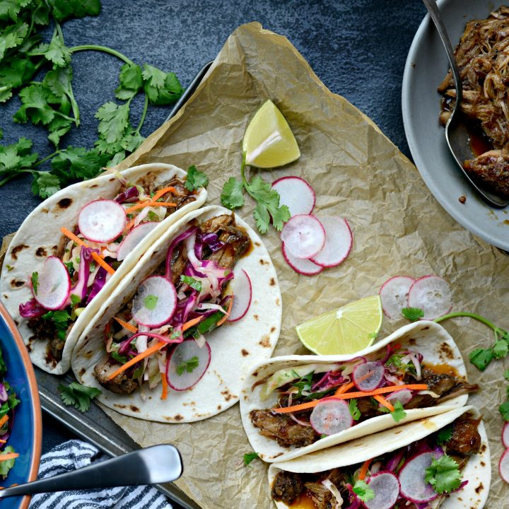 Braised Korean Pork Tacos