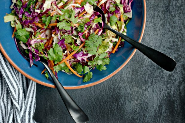 Cilantro Coleslaw with Lime Vinaigrette l SimplyScratch.com